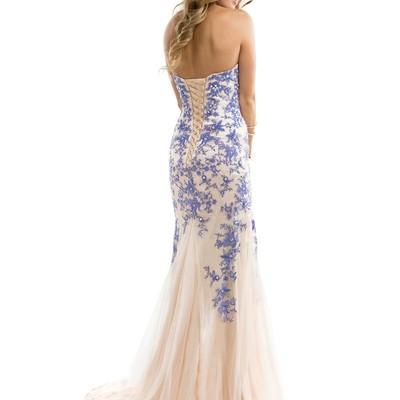 D90 Elegant Perfect Nude Lavender Tulle Lace Prom Dress Corset ...