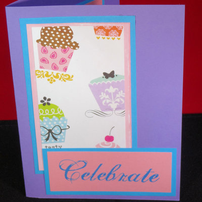 Teal And Cupcakes Birthday Card Handmade And Adorable Cutie