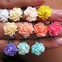 Open Rose Adjustable Ring