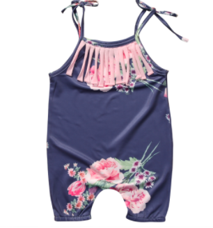 0d387cc6391 Baby Toddler Navy Floral Romper · Blush + Willow