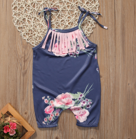 5ee3b44f351 Baby Toddler Navy Floral Romper - Thumbnail 1 ...