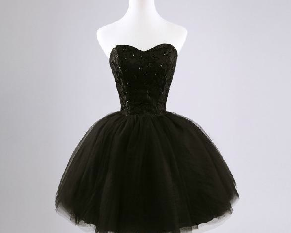 Black Homecoming Dresses,Simple Pretty Homecoming Dress,Cheap ...
