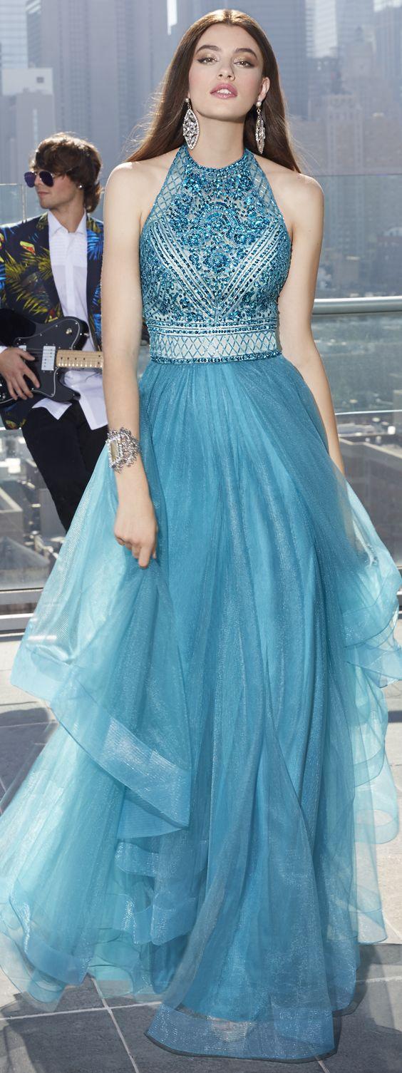 New Prom Dresses,Halter prom dress,Beading Prom Dress,Affordable ...