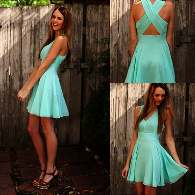 Turquoise Cheap Prom Dress