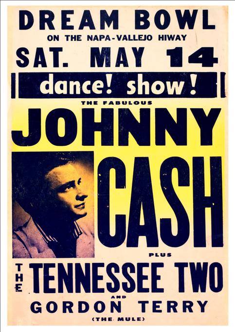 0368  Vintage Music Poster Art Johnny Cash