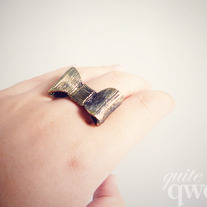 Vintage Bronze Bow Ring