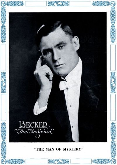 Vintage Magician Poster A4 Reprint Becker The Magician Man of Mystery