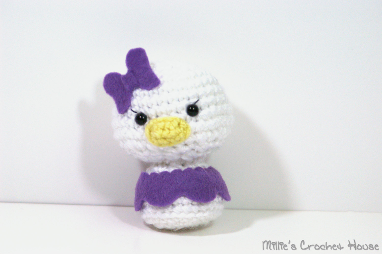 Crochet Donald and Daisy Duck - Chibi Amigurumi Dolls · Millie\'s ...