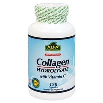 Collagen Hydrolysate with Vitamin C 120 Caps by Alfa Vitamins