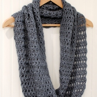 Crochet Pattern  Mobius Infinity Scarf  Wrap includes instructions  Crochet Infinity Scarf Free Directions