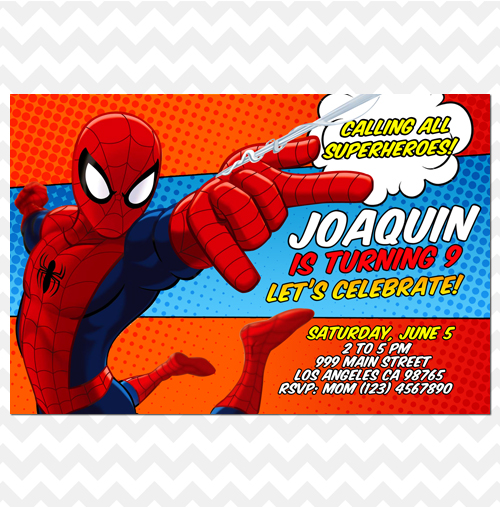 Ithinkparty spiderman invitation spider man invitation spiderman spiderman invitation spider man invitation spiderman invites comics stopboris