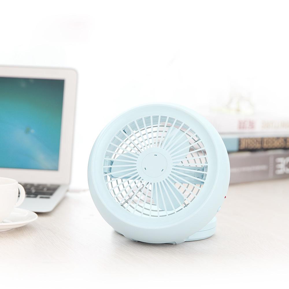 Japanese Cute Round Mini Usb Fans Muting Office Desk Fan ...