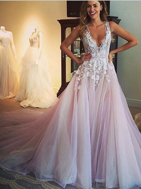 F157 Gorgeous A-line Long Wedding Dress Prom Dress · Dress On the ...