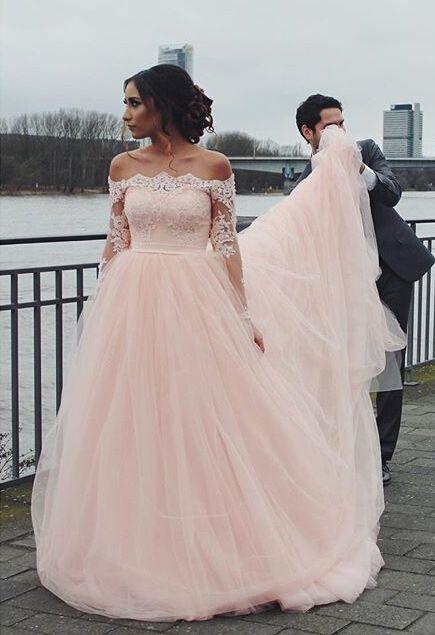 Long Sleeve Lace Charming Wedding Dress, Lace Wedding Dress, Cheap Wedding  Dress, Cheap