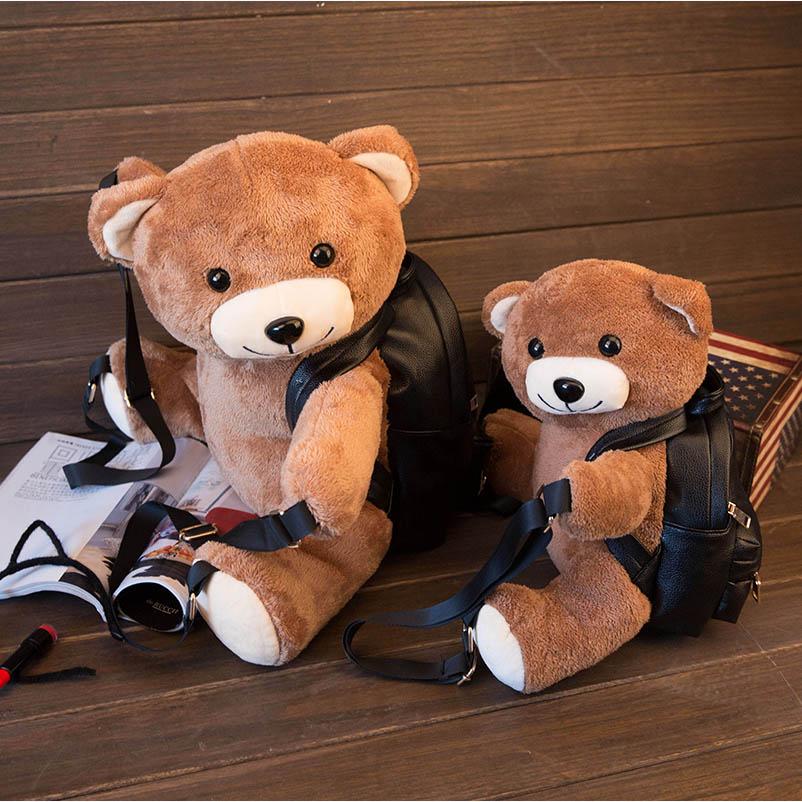 Kawaii Bear Plush Backpack Creative Cute Cartoon Schoolbag ...