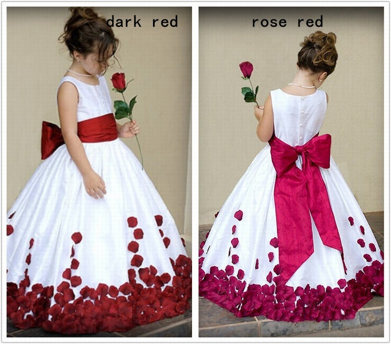 Ball Gown Girls Fashion Bridesmaid Flower Girl Dresses Formal