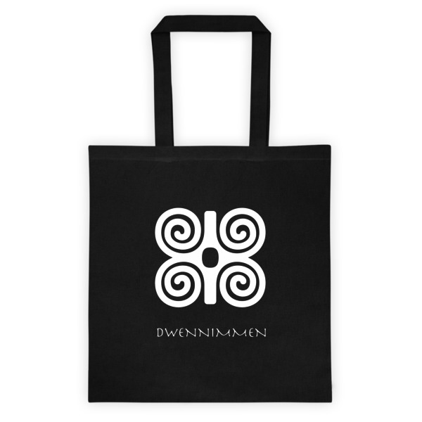 Canvas Tote Bag With Women Empowerment Symbols Adinkra Strength