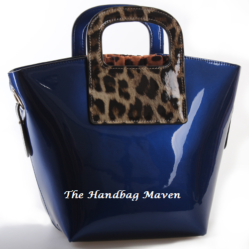 cobalt blue patent leather animal print handbag  289 95 cobalt blue ...