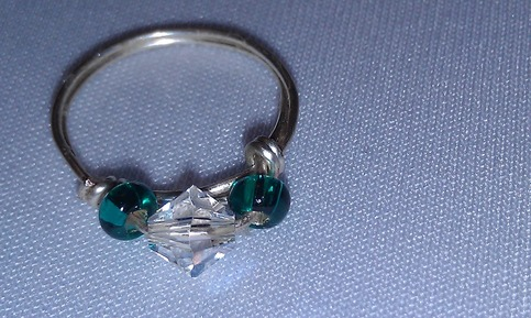 Sparkle & teal ring