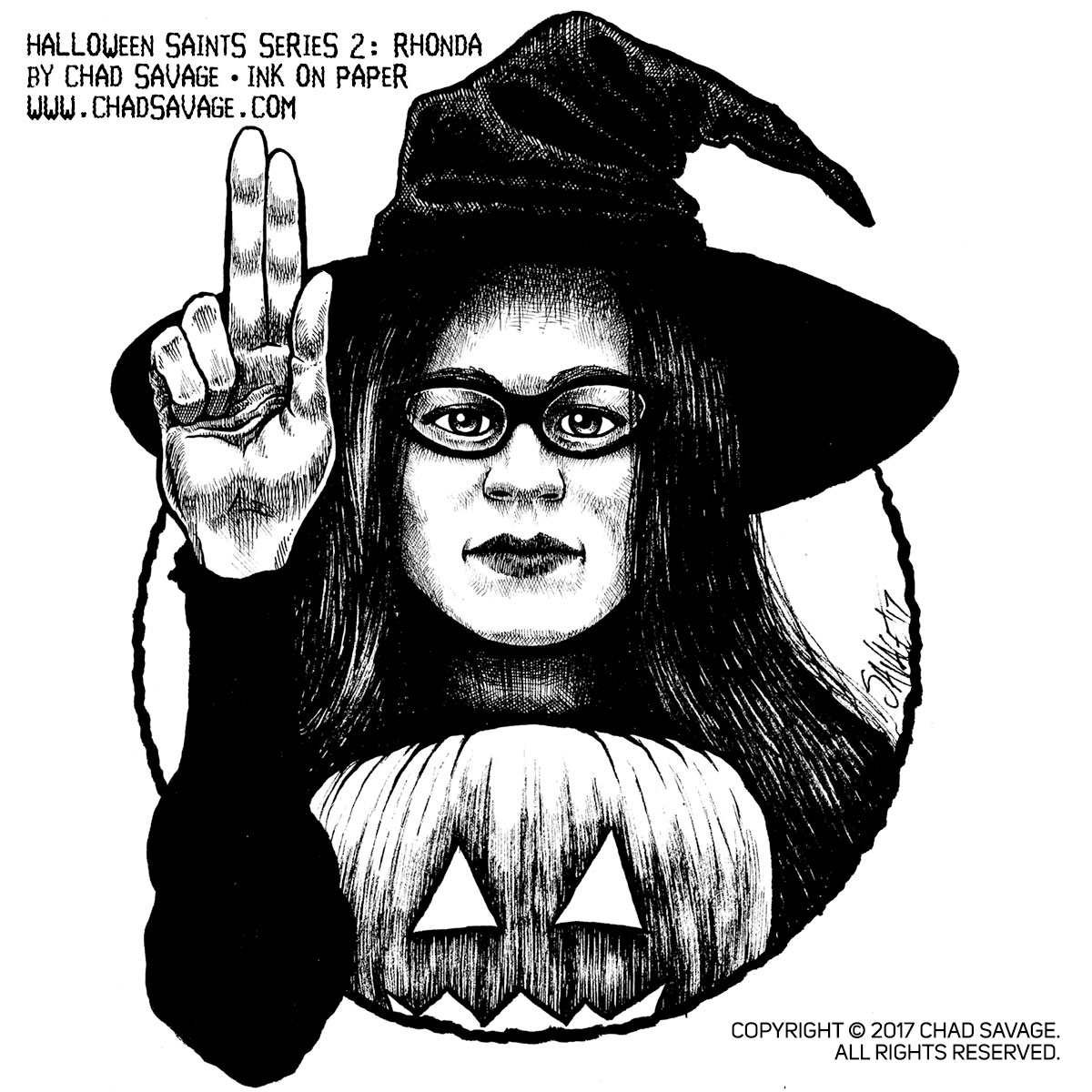 Halloween Saints Series 2: Rhonda Original Ink Art · ShopSinister ...