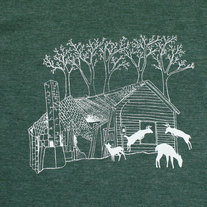 Oh Deer T-shirt Women's Heather Green