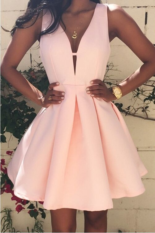 Cute Prom Dress,Short Prom Gown,Pink Satin Homecoming Dress,Sweet 16 ...