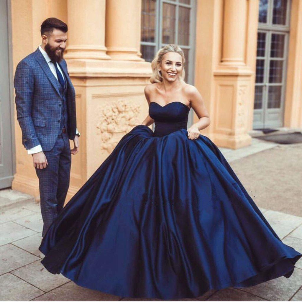 Navy blue taffeta sweetheart ball gowns wedding dressjd 153 june navy blue taffeta sweetheart ball gowns wedding dressjd 153 junglespirit Gallery
