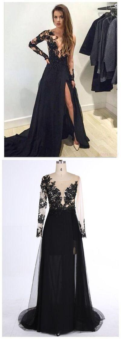 Black Lace Prom Dresses Wedding Party Dresses Banquet Gowns Evening ...
