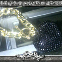 Black Heart Toggle Closure Bracelet