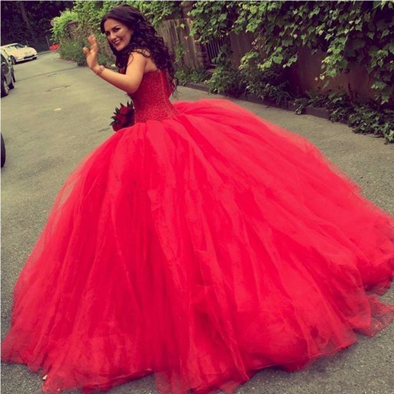 Red Lace Prom Dress,Sweetheart Ball Gown,Custom Made Evening Dress ...