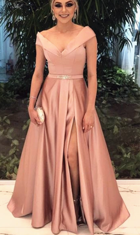 Cheap prom dresses v neck bridesmaid dress champagne for Cheap champagne wedding dresses