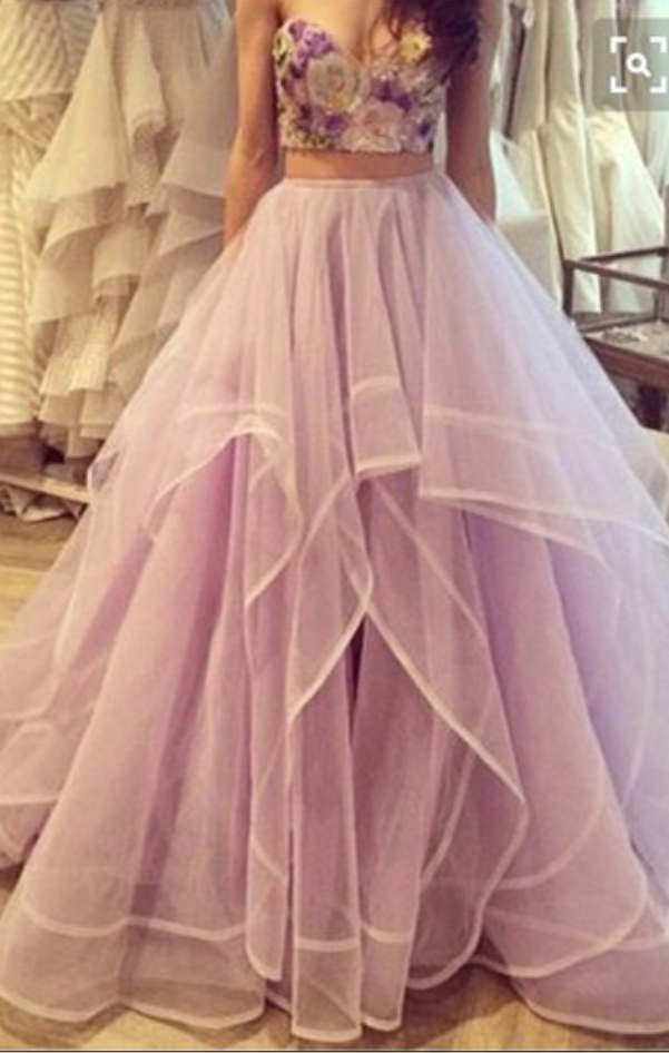 Gorgeous 2 Pieces Prom Dress,Sweetheart Prom Ball Gowns,Homecoming ...
