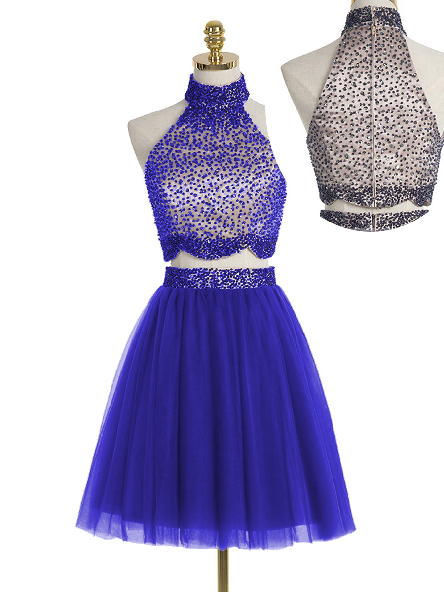 Two Pieces Homecoming Dresses,Pretty Party Dress,Charming Homecoming ...