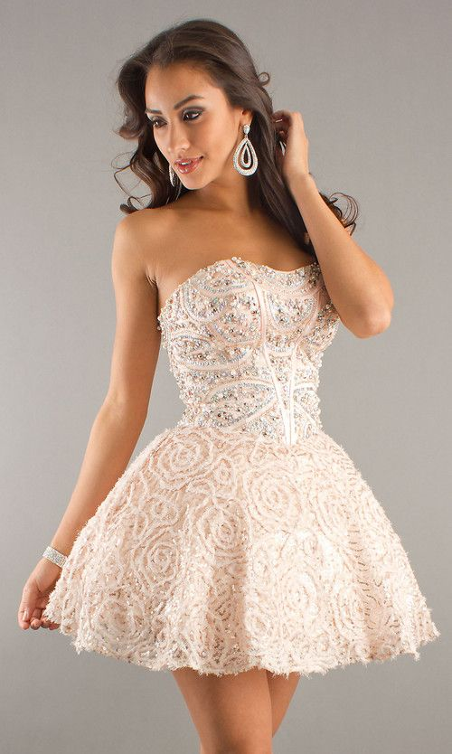 Strapless Short Prom Dresses