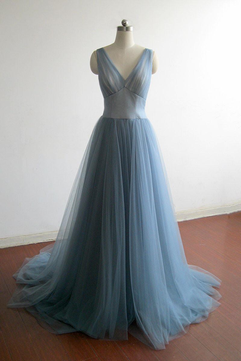 V-Neck Prom Dress,Long Prom Dresses,Prom Dresses,Evening Dress, Prom ...