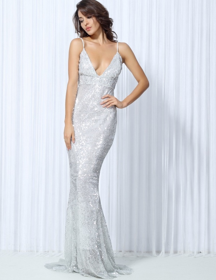 3b9c0a3d3c6d Silver Sequin Evening Gown · somethingshelikes · Online Store Powered by  Storenvy