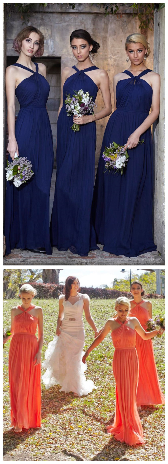 New halter royal blue chiffon bridesmaid dresses under 100 long new halter royal blue chiffon bridesmaid dresses under 100 long chiffon full length bridesmaids maid of ombrellifo Images