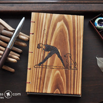 My Products / Letterpress Wooden handcrafted Yoga Art Sketch/Journal Book