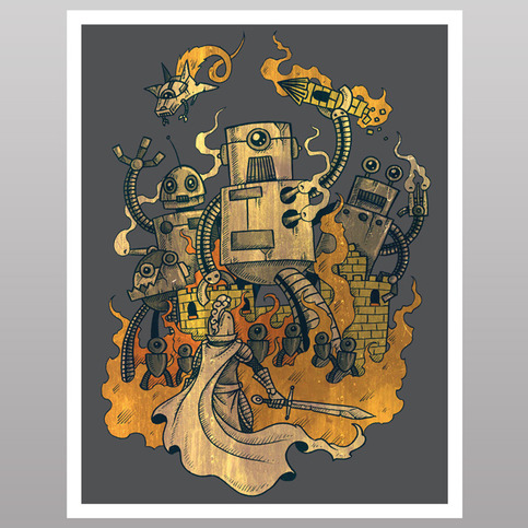 The Robots Come Out At Knight (print)