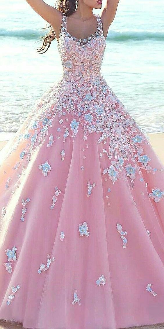 New Arrival Prom Dress,Modest Prom Dress,pink prom dresses,pink ball ...