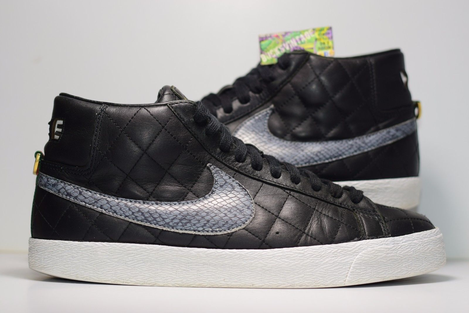 quality design fcbdb 77b30 Size 9.5   2006 Nike SB Blazer SUPREME Black Black 313962-001 - Thumbnail  ...