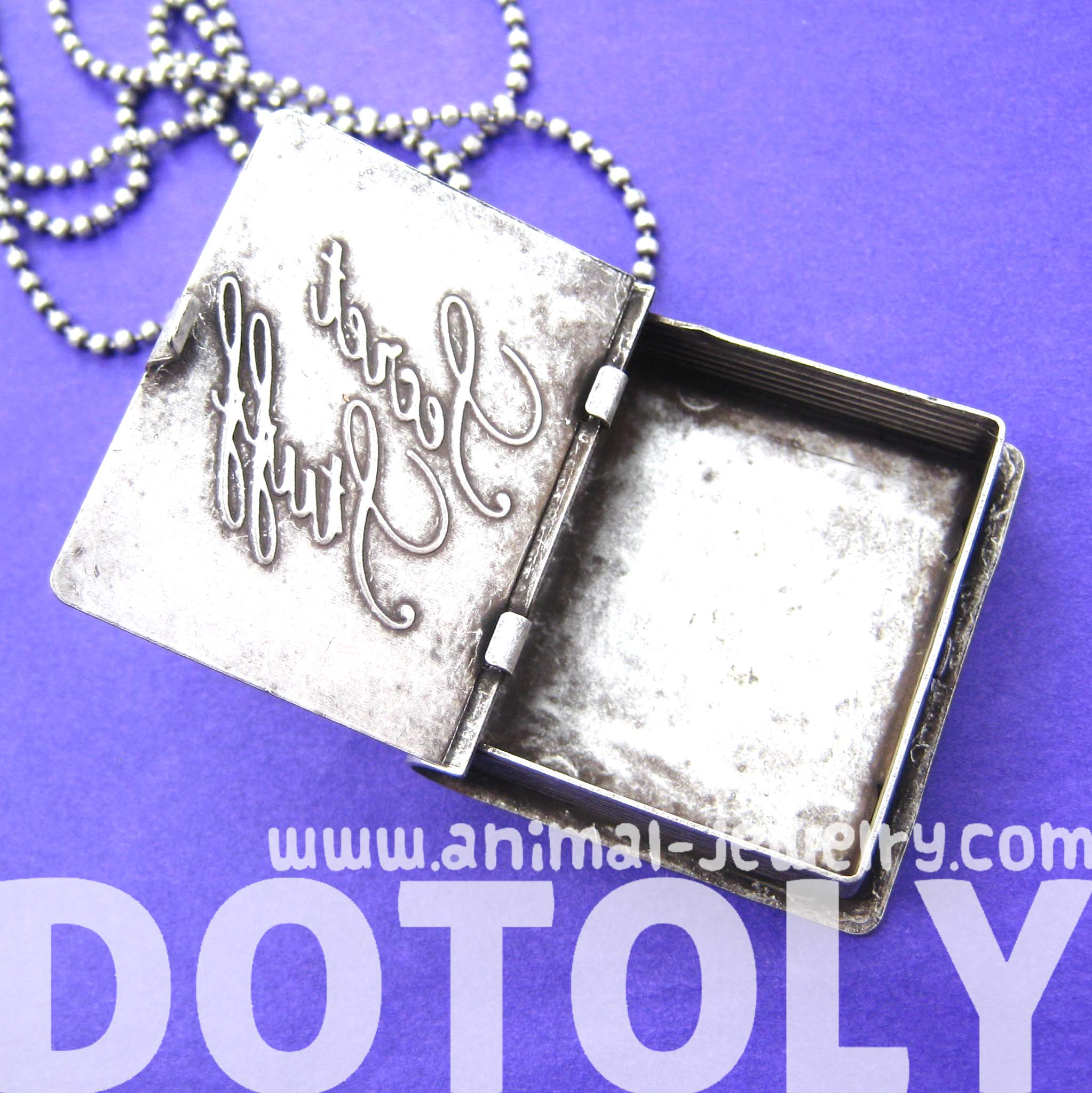 Book diary shaped locket pendant with the wordssecret stuff book diary shaped locket pendant with the wordssecret stuff etched on the front aloadofball Gallery