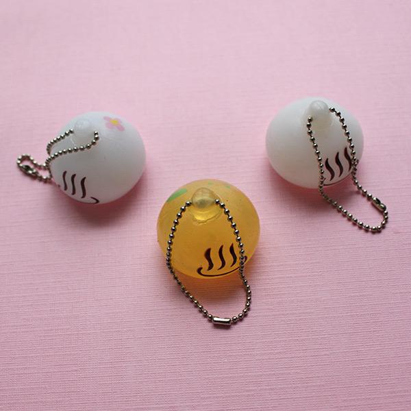 Squishy Keychain : Kawaii Jewelry Onsen Manju Kun Squishy Charm Keychain Online Store Powered by Storenvy