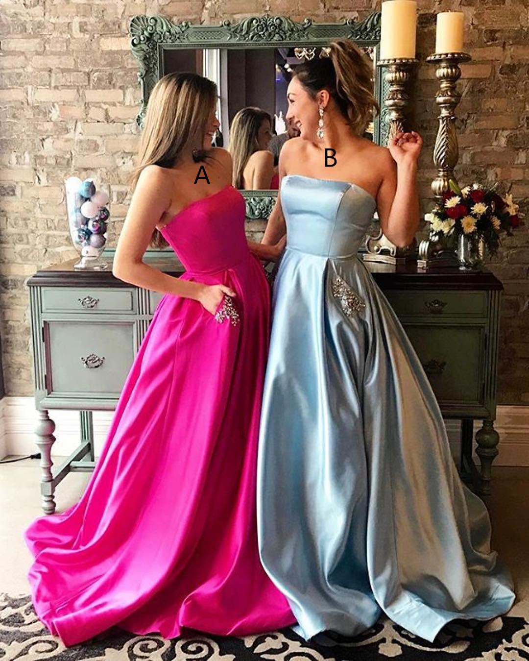 E200 2018 Long Prom Dress, Light Prom Dress, Hot Pink Prom Dress ...