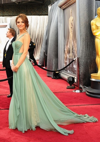 E359 Mint Chiffon Long Prom Dresses,Charming Lady Red Carpet Evening ...