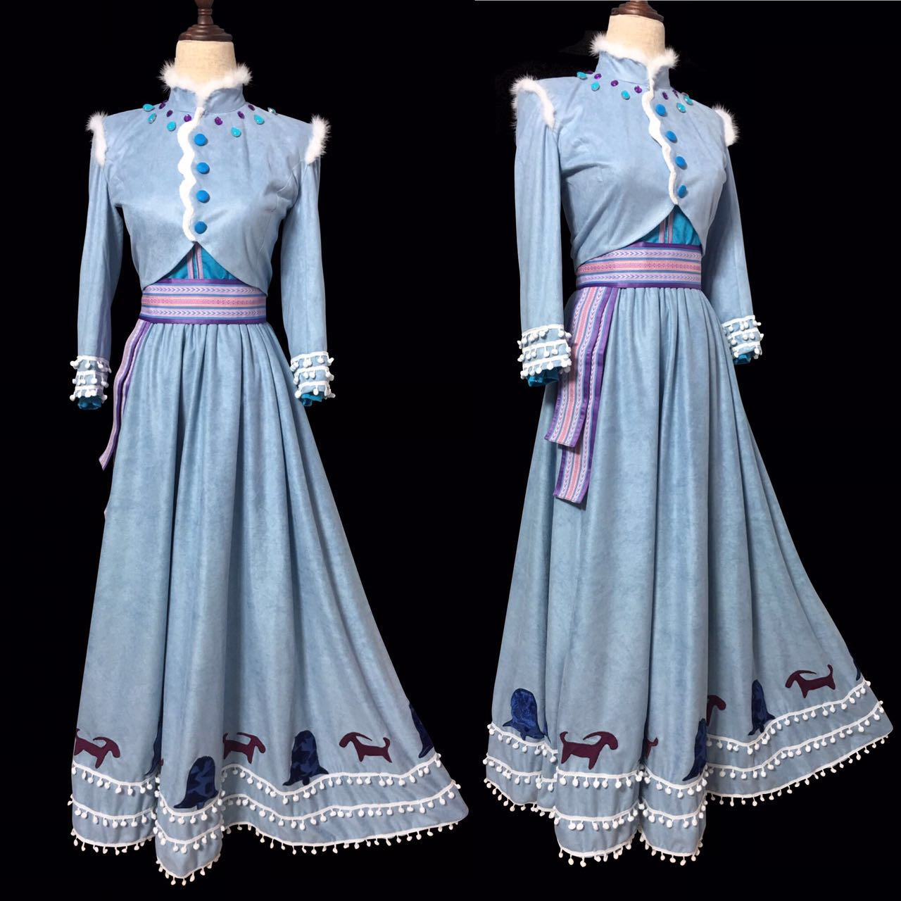 J995 olaf 39 s frozen adventure anna dress embroidery version for Embroidery office design version 9