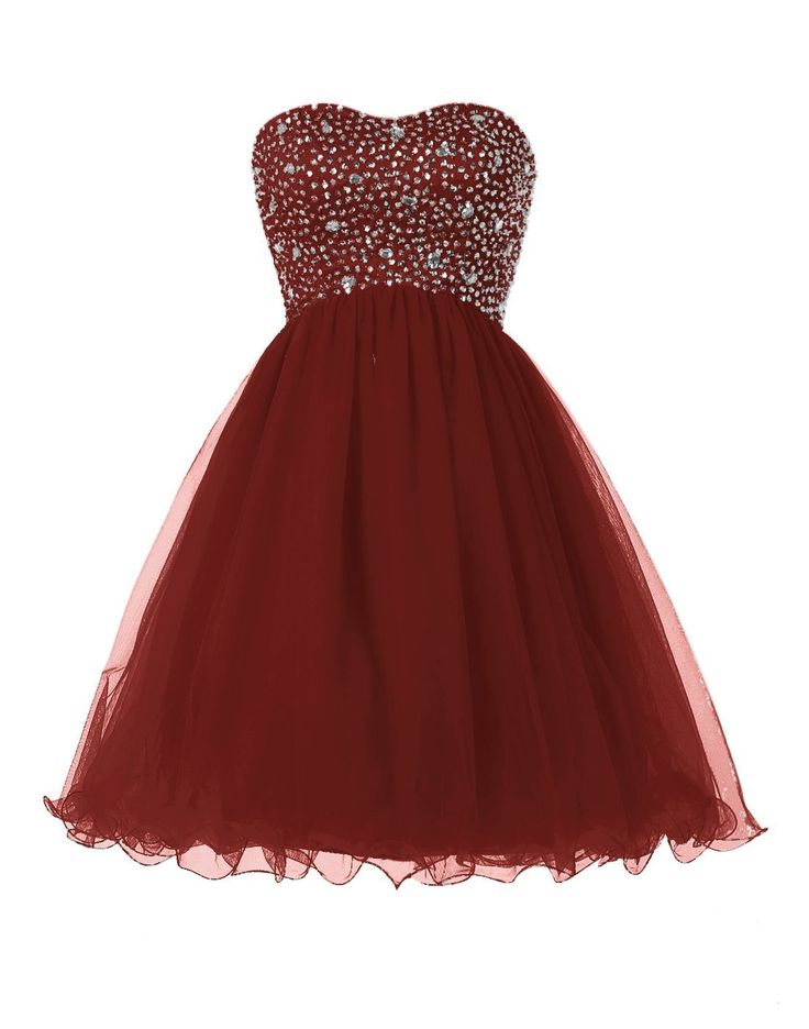 Sexy Prom Dress, Short Prom Gown, Burgundy Homecoming Dress F2256 ...