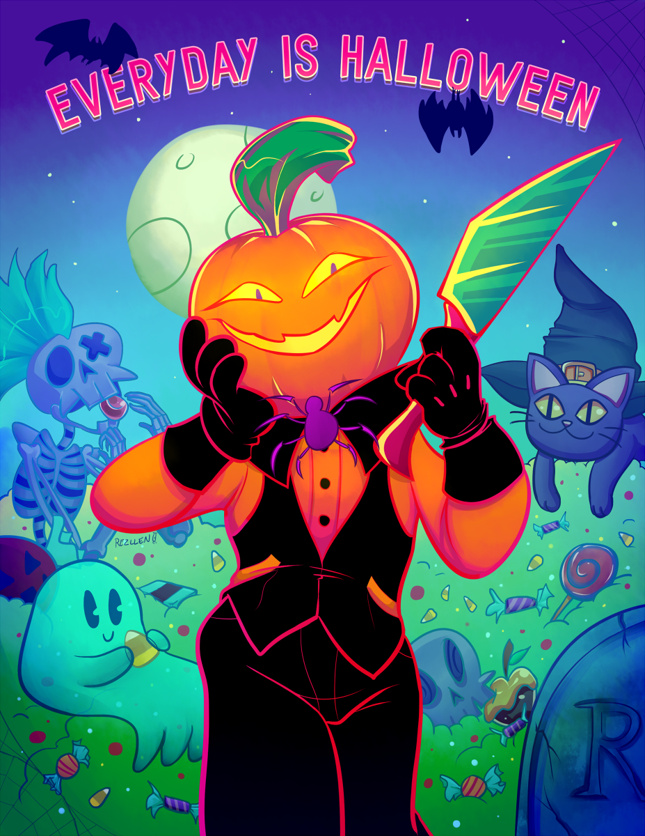 Everyday is Halloween Print (Holographic or normal) · Rezllen's ...