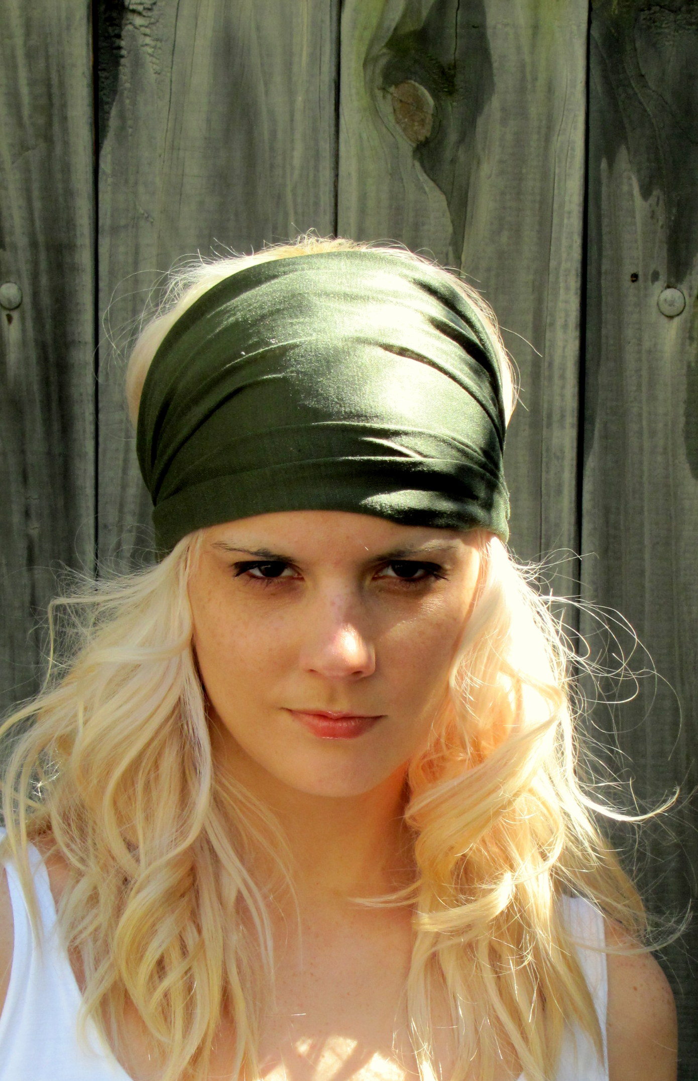 ... Cotton Stretchy Jersey Yoga Headband Wide Women s Turban Headband -  Thumbnail ... a959abe34b5
