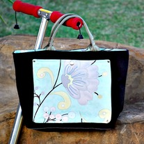Silver Flower Handbag - Mother's Day Special - Was $80 Now $50